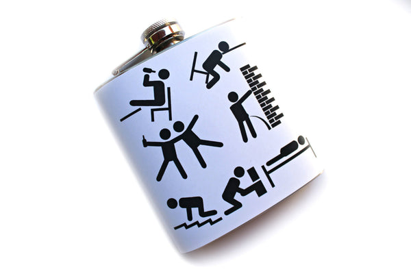 Drunken Timeline Funny Flask - Harmless Habit - 2