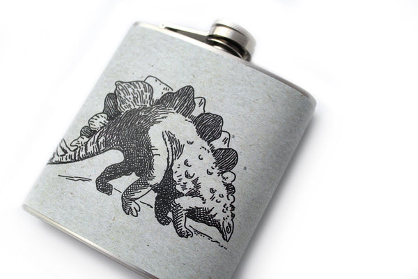 Stegosaurus Dinosaur Flask - Harmless Habit - 3