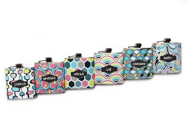 Retro Patterned Flask - Harmless Habit - 3