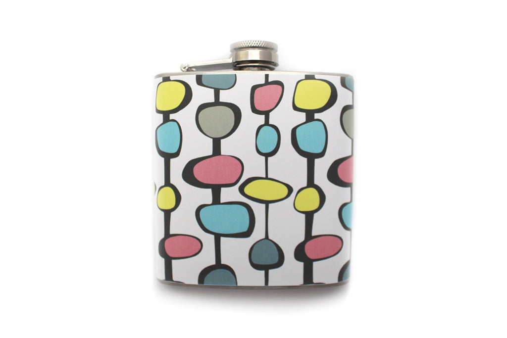 Retro Patterned Flask - Harmless Habit - 1