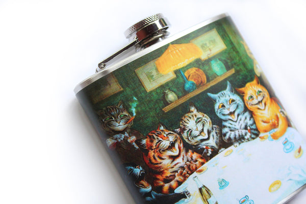 Cats Drinking and Smoking Flask - Harmless Habit - 3