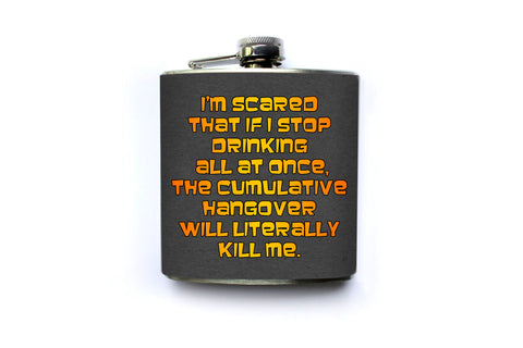 Sterling Archer Hangover Quote Flask - Harmless Habit - 1