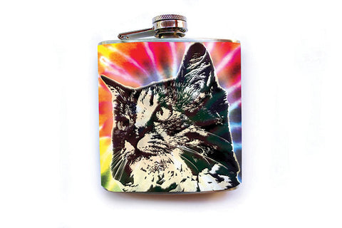 Cat Tie Dye Flask - Harmless Habit - 1