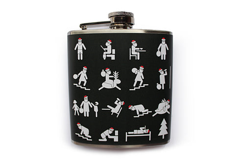 Drunken Santa Funny Flask - Harmless Habit - 1