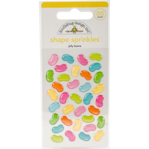 Doodlebug Sprinkles Adhesive Glossy Enamel Embellishments - Easter Express Jelly Beans
