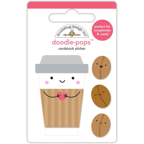 Doodlebug Doodle-Pops 3D Stickers - Cream & Sugar Coffee Mates