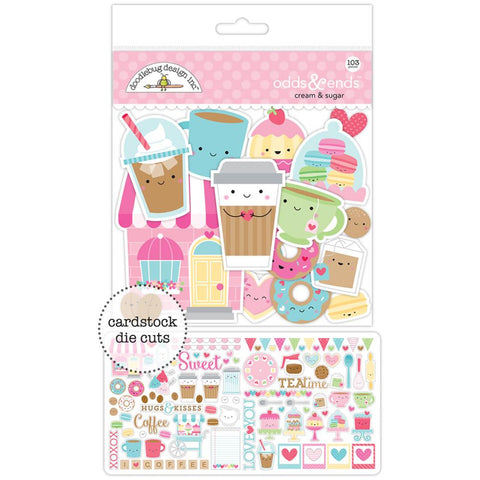 Doodlebug Odds & Ends Die-Cuts - Cream & Sugar