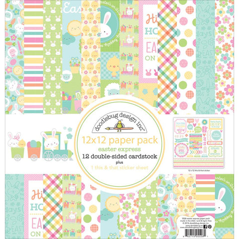"Doodlebug Double-Sided Paper Pack 12""X12"" - Easter Express"