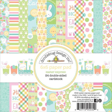 "Doodlebug Double-Sided Paper Pad 6""X6"" 24/Pkg - Easter Express"