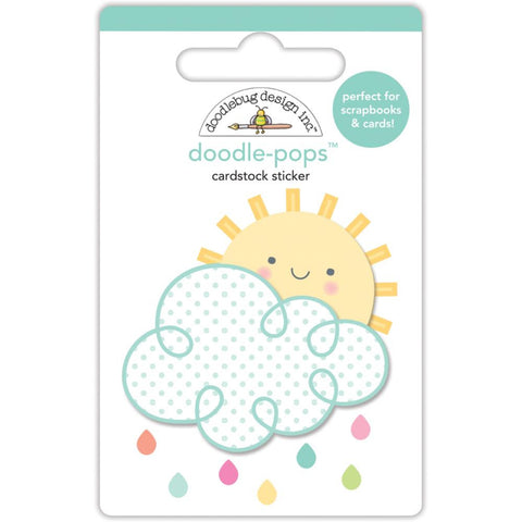 Doodlebug Doodle-Pops 3D Stickers - Spring Things Hello Sunshine