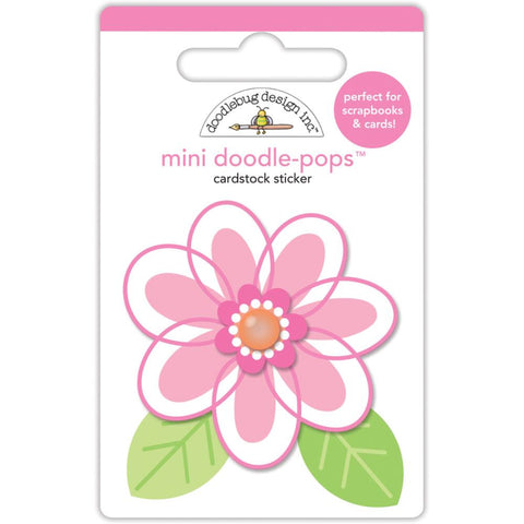 Doodlebug Doodle-Pops 3D Stickers - Spring Things Dainty Daisy