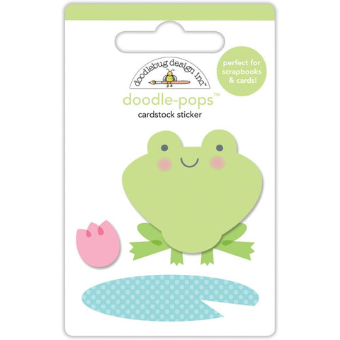 Doodlebug Doodle-Pops 3D Stickers - Spring Things Froggy