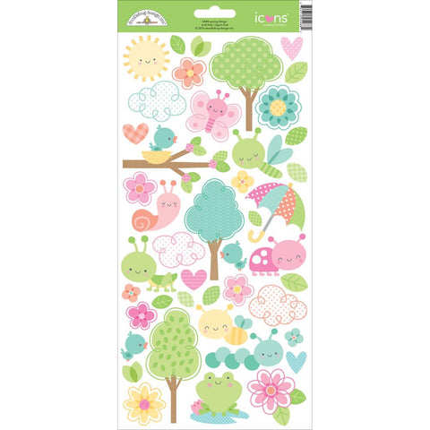 "Spring Things Cardstock Stickers 6""X13"" - Icons"