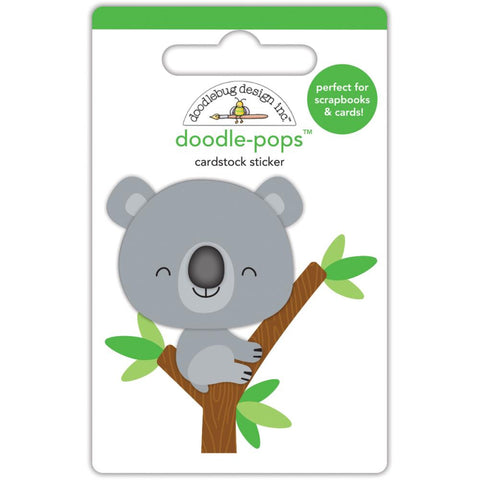 Doodlebug Doodle-Pops 3D Stickers - At The Zoo KC Koala