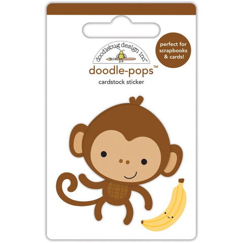 Doodlebug Doodle-Pops 3D Stickers - At The Zoo Monkey Mike