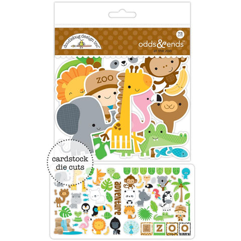 Doodlebug Odds & Ends Die-Cuts - At The Zoo