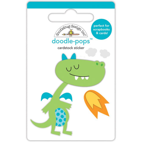 Doodlebug Doodle-Pops 3D Stickers - Dragon Tails Puff