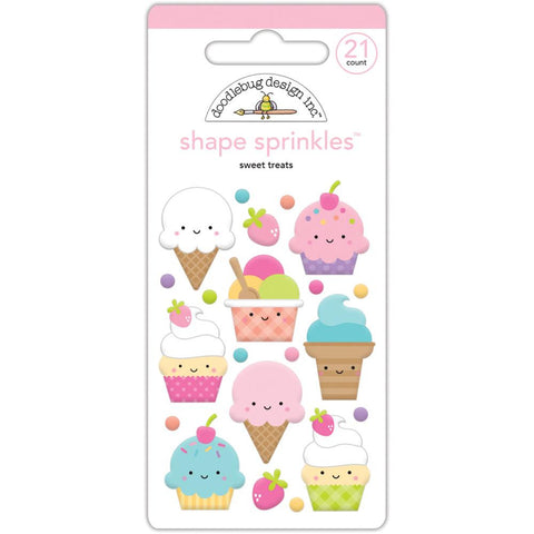 Doodlebug Sprinkles Adhesive Glossy Enamel Shapes - Fairy Tales Sweet Treats