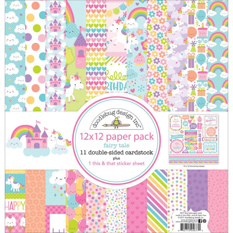 "Doodlebug Double-Sided Paper Pack 12""X12"" - Fairy Tales"