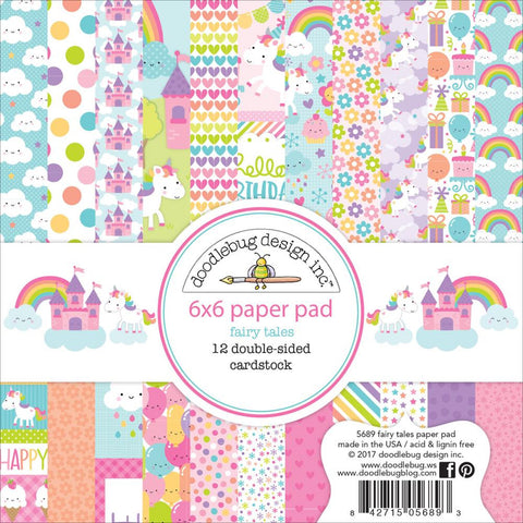 "Doodlebug Double-Sided Paper Pad 6""X6"" 24/Pkg - Fairy Tales"
