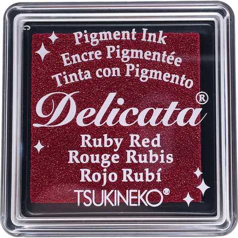 Delicata Small Pigment Inkpad - Ruby Red