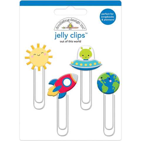 Doodlebug Jelly Clips 4/Pkg - Out Of This World