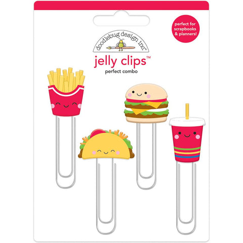 Doodlebug Jelly Clips 4/Pkg - Perfect Combo