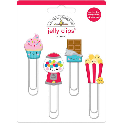 Doodlebug Jelly Clips 4/Pkg - So Sweet