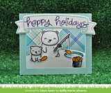 beary happy holidays stamp and die