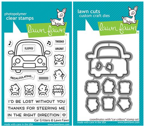 car critters stamp and die