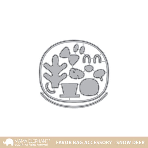 FAVOR BAG ACCESSORY - SNOW DEER