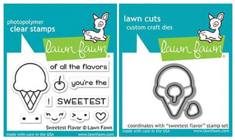 sweetest flavor stamp and die