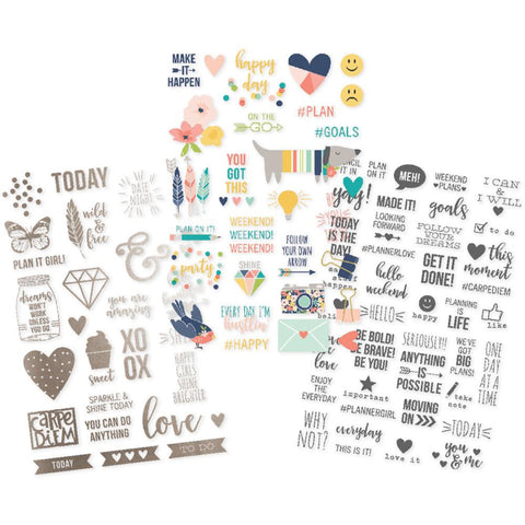 "Posh Clear Stickers 4""X6"" 3/Pkg"
