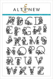 Floral Alphabet Stamp Set