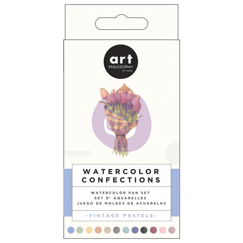 Prima Watercolor Confections Watercolor Pans 12/Pkg - Vintage Pastel