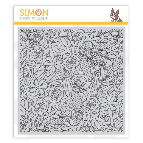 Simon Says Cling Rubber Stamp FLOWER EXPLOSION