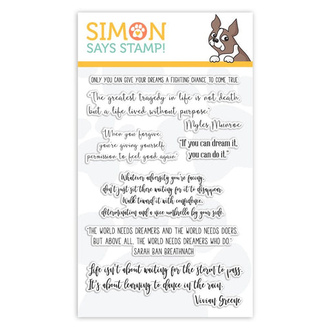 Simon Says Clear Stamps YOUR GREATEST DREAMS