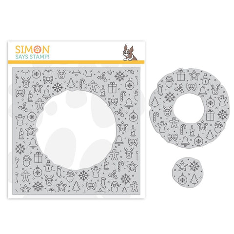 Simon Says Cling Rubber Stamp CENTER CUT HOLIDAY ICONS