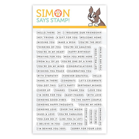 Simon Says Clear Stamps TINY WORDS