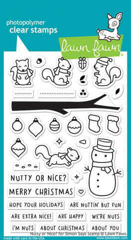 Lawn Fawn NUTTY OR NICE Clear Stamps