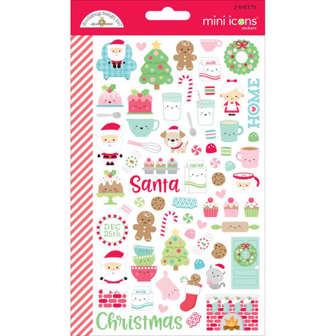 Milk & Cookies Mini Icons Doodlebug Mini Cardstock Stickers