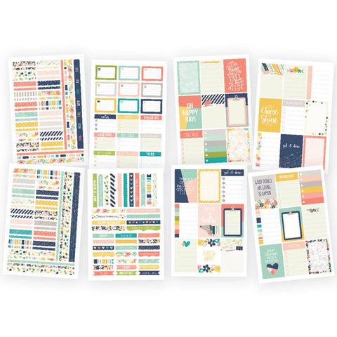 "Posh Weekly Stickers 4""X6"" 8/Pkg"