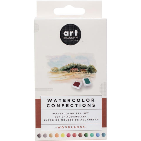 Prima Marketing Watercolor Confections Watercolor Pans 12/Pk - Woodlands