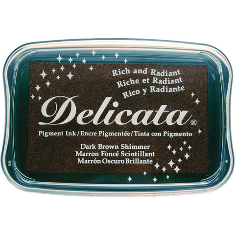 Dark Brown Shimmer Delicata Pigment Ink Pad