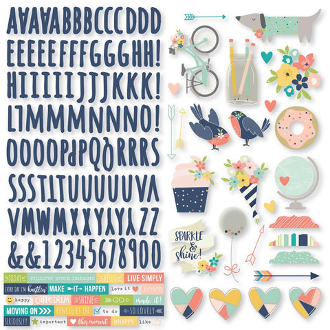 "Posh Cardstock Stickers 12""X12"""
