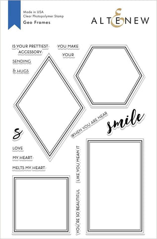 Geo Frames Stamp Set
