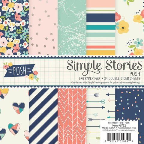"Simple Stories Double-Sided Paper Pad 6""X6"" 24/Pkg"