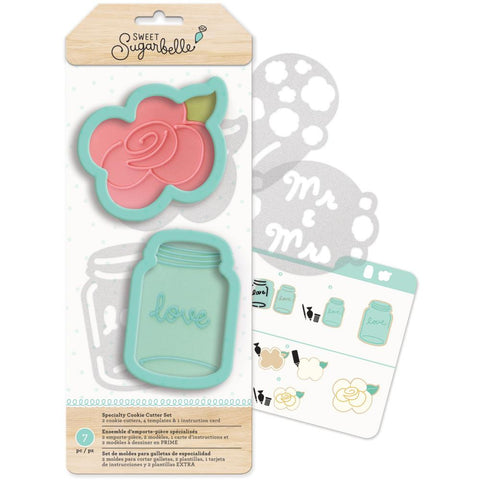 Sweet Sugarbelle Specialty Cookie Cutter Set 7/Pkg - Country Rose