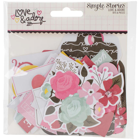 Love & Adore Bits & Pieces Die-Cuts