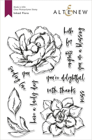 Inked Flora Stamp Set